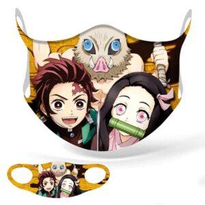 Masque Demon Slayer Tanjirô x Nezuko x Inosuke