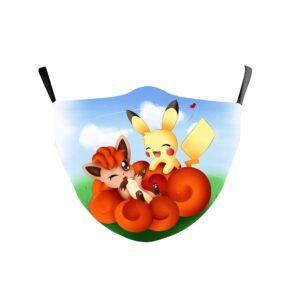 Masque Pokémon Pikachu et Goupix