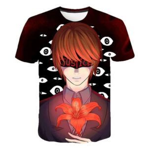T-Shirt Death Note Light Yagami True Justice