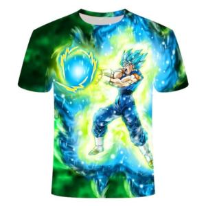 T-Shirt DBS Vegeto Super Saiyan Blue