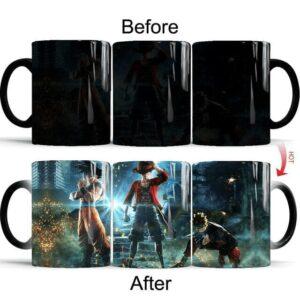 Mug Crossover Goku Luffy et Naruto