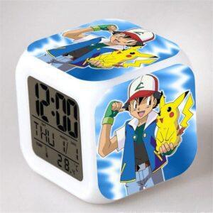 Réveil Pokémon Sacha Ketchum x Pikachu
