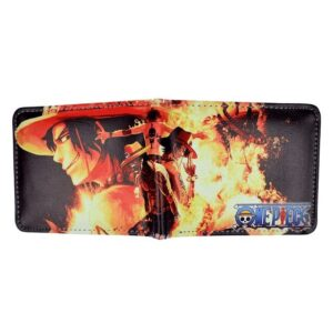 Portefeuille One Piece Ace Au Poing Ardent
