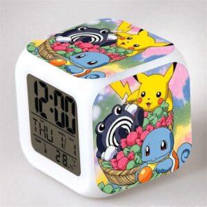 Réveil Pokémon Pikachu Carapuce et Tartard