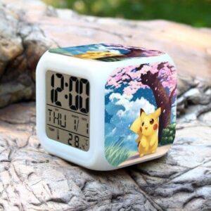 Réveil Pokémon Pikachu Cerisier