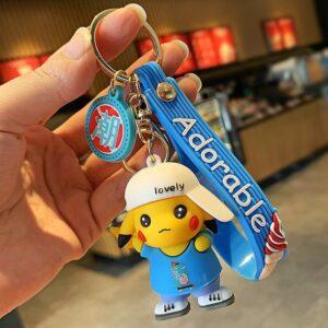 Porte Clé PokémPorte Clé Pokémon Pikachu Lovely Bleuon Lovely Bleu
