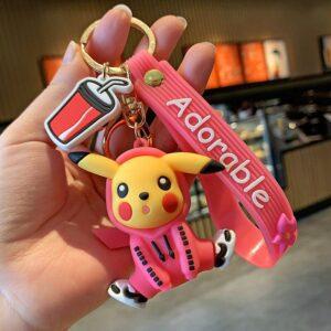 Porte Clé Pokémon Pikachu Sweat Rose