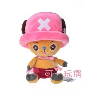 Peluche One Piece Chopper Chapeau Rose