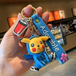 Porte Clé Pokémon Pikachu Sweat Bleu