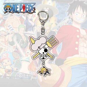 Porte Clé One Piece Jolly Roger Sanji
