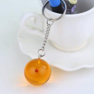 Porte Clé Dragon Ball Boule De Cristal Orange
