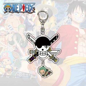 Porte Clé One Piece Jolly Roger Zoro Roronoa