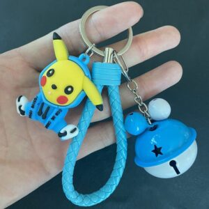 Porte Clé Pokémon Pikachu Cloche Bleu