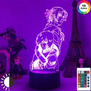 Lampe L'attaque Des Titans Eren et Mikasa