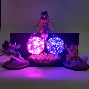 Lampe Dragon Ball Z Goku et Vegeta vs Broly