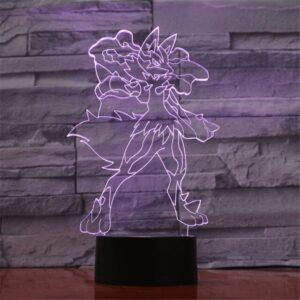Lampe Pokémon Méga-Lucario
