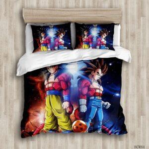 Housse De Couette Dragon Ball GT Goku et Vegeta SSJ 4