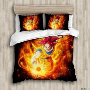 Housse De Couette DBS Goku Super Saiyan Divin