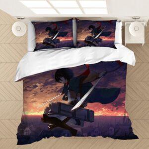 Housse De Couette l'Attaque des Titans Mikasa Ackerman