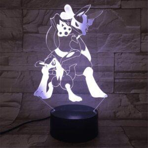 Lampe Pokémon Lucario et Riolu