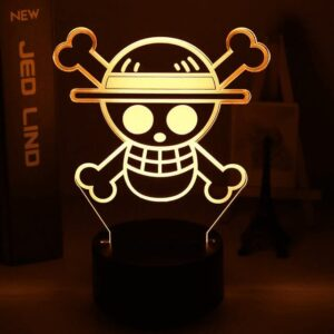 Lampe One Piece Jolly Roger Luffy