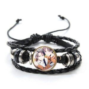 Bracelet L'attaque Des Titans Livaï x Eren