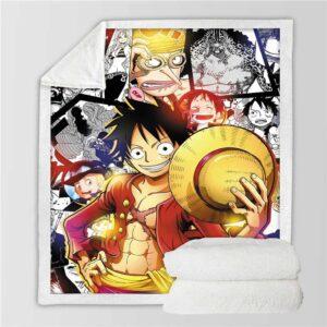 Plaid One Piece Luffy au Chapeau de Paille