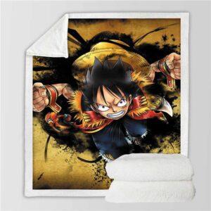 Plaid One Piece Luffy Gomu Gomu