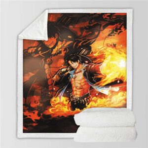 Plaid One Piece Ace au Poing Ardent
