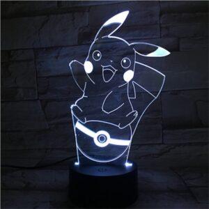 Lampe Pokémon Pikachu Pokéball