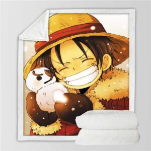 Plaid One Piece Luffy Neige