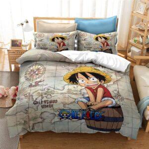 Housse De Couette One Piece Luffy Enfant