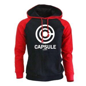 Pull Dragon Ball Capsule Corp Rouge et Noir
