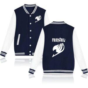 Veste Fairy Tail Emblème Bleu et Blanc