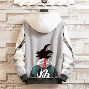 Veste Dragon Ball Z Coupe-Vent Gris Clair
