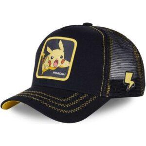 Casquette Pokémon Pikachu Éclair Noir