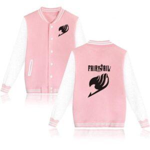Veste Fairy Tail Emblème Rose et Blanc