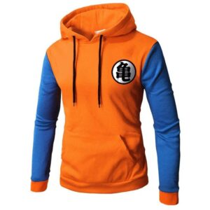 Pull Dragon Ball Kanji Orange et Bleu