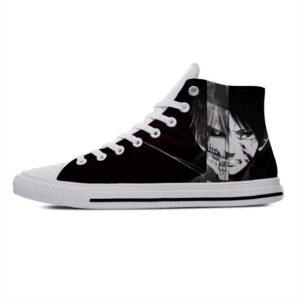 Chaussures L'attaque Des Titans Eren Noir et Blanc