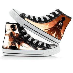 Chaussures L'attaque Des Titans Eren et Mikasa