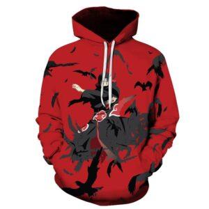 Pull Naruto Itachi Corbeau Noir