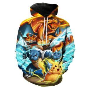 Pull Pokémon Dracaufeu Tortank Pikachu
