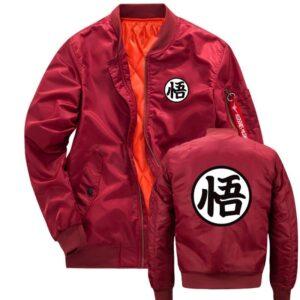 Veste Dragon Ball Z Bomber Kanji Rouge