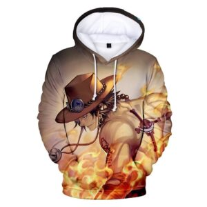 Pull One Piece Ace au Poing Ardent