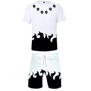 Pyjama Naruto Magatama Blanc Flamme