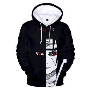 Pull Naruto Itachi Noir et Blanc