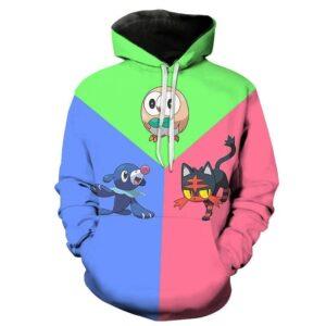 Pull Pokémon Brindibou Flamiaou et Otaquin