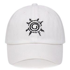 Casquette Naruto Sceau des Quatre Symboles Blanc