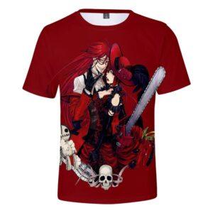 T-Shirt Black Butler Grell x Madam