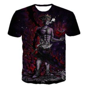 T-Shirt Black Clover Asta Full Demon